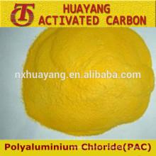 Pó amarelo de alto grau poli alumínio cloreto de cloreto 30%