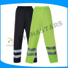 100% poliéster 150D oxford impermeável respirável alta visibilidade calças