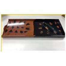 Placa do retângulo da melamina de 100% / placa de jantar (qq13328)