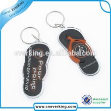 Porte-clés en acrylique Slipper Shape pour les touristes pour la promotion