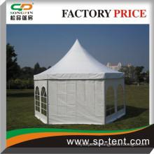 cheap wedding marquee hexagon pagoda tent for garden party events
