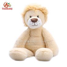China preço de fábrica de pelúcia brinquedo animal sentado leão marrom pelúcia