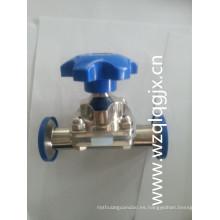 Válvula de diafragma sanitaria bidireccional de acero inoxidable