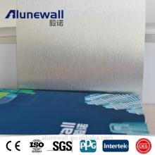 Alunewall gold/silver/black Brushed Aluminium Composite Panel for interior decoration/ Signage ACP panel