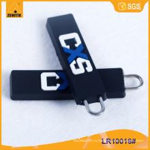 Изготовленный на заказ логос с резиновым съемником застежки -молнии LR10016