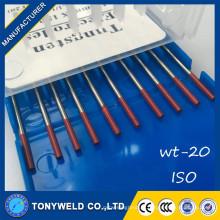 Tig soudure pièces électrode tungstène wt20 tungstène tige 2.4