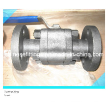 Handle Three Pieces API Trunnion Flange Forged Ball Valve