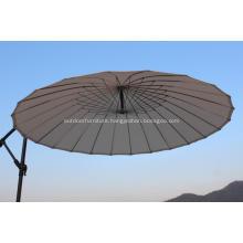 24 Wire Steel Round Ribs Cantilever Umbrella