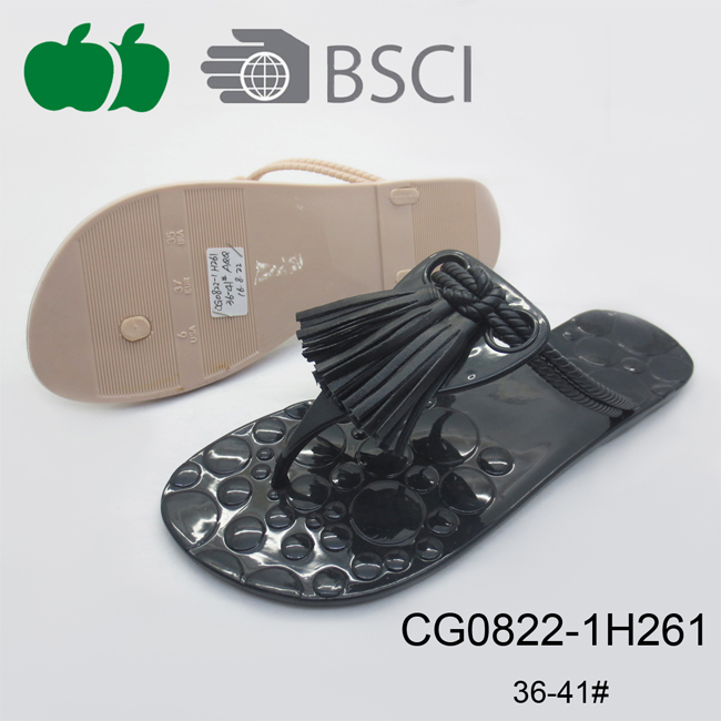 Women Summer Fashion Elegant Durable Fancy Pvc Slippers
