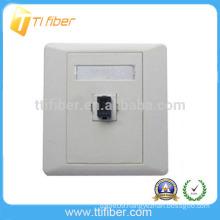 Single Port Duplex SC Fiber Optic Faceplate/ Wall Plate