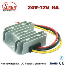 Convertidor CC de la fuente de alimentación del coche de 24V a 12V 8A