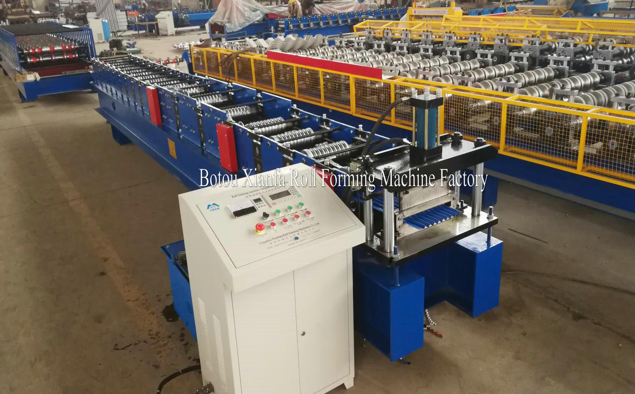 small corrugated plate machine