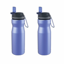 High quality drinking stainless steel sport water bottle with straw lid