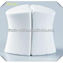 porcelain white salt and pepper