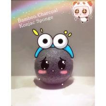 Cosmetics Charcoal Facial Konjac Sponge with Box Package