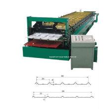 Alta velocidade construção material duplo camada fazendo chapas metálicas, equipamentos de conformação
