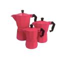 Estoque de venda quente de alumínio italiano indução cafeteira Moka Pot