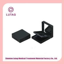 Schwarzer Lidschatten Kosmetik-Container Quadrat Lidschatten container