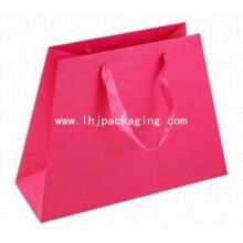 New Design Irregular Paper Bag with Ribbon Handle