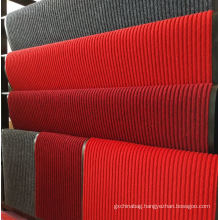 Striped surface non woven polyester floor mat flexible