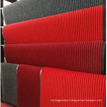 Striped surface non woven polyester floor mat flexible