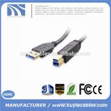 Super speed USB 3.0 AM / BM Un mâle à B mâle 5 Gbps connecteur plaqué or câble d'imprimante