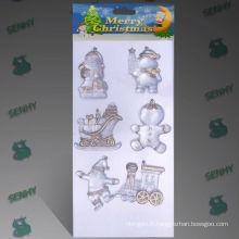 10 cm Clear Plastic Christmas decoration santa claus sleigh