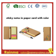 Recycled Sticky Note Memo Pad с маркером страницы