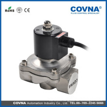 Professional fountain 2way brass stainless steel 1/4 inch water air oil hot water solenoid valve