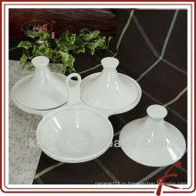 Прочная керамическая посуда с бамбуковым поддоном
