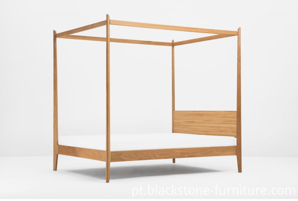 Canopy Bed Wooden Bed Solid Wood Furniture