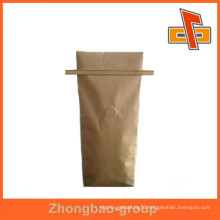 china maker resealable printing side gusset kraft paper value bag with tin tie for coffee and other food packaging