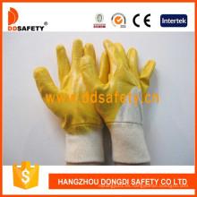 Guantes de algodón con revestimiento de nitrilo Ce Safety Guons Dcn303