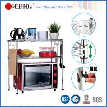 Ajustável aço mini cozinha prateleira rack para alimentos