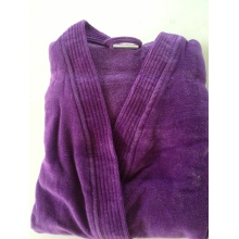 Пурпурный велюровый махровый халат для взрослых кимоно