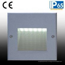 IP65 LED empotrable Lámpara de pared escalonada para Square (JP817187)