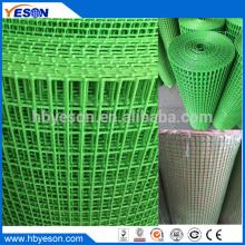 Malla de alambre soldada con revestimiento de pvc rectangular verde popular indio de 10m