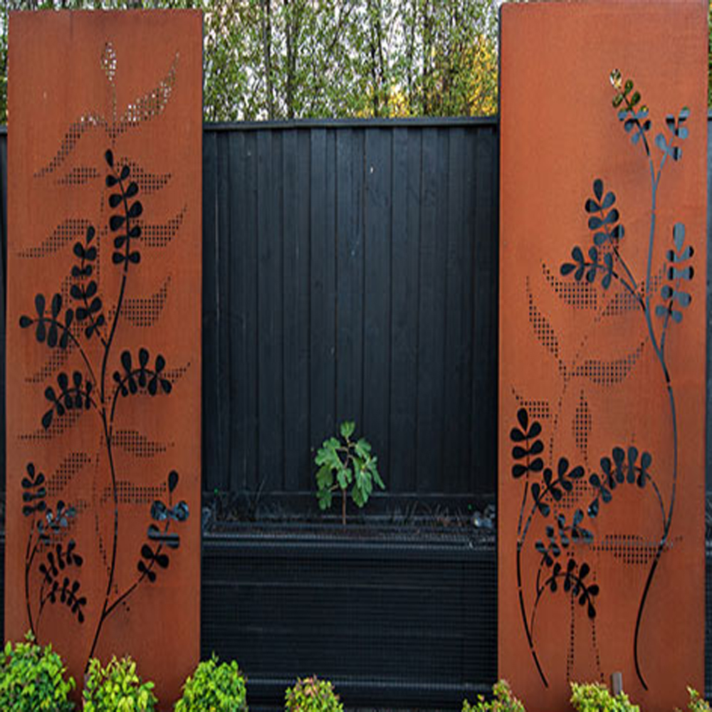 Corten Steel Laser Cut Fence