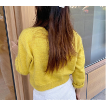 Suéter estilo ocidental com decote em V