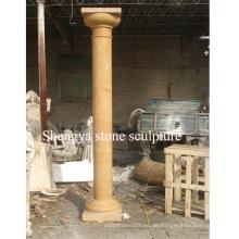 Gold Marmor Stein Skulptur Spalte für Haus Dekoration (SY-C017)