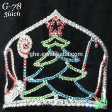 Nueva corona del árbol de navidad del rhinestone de los diseños