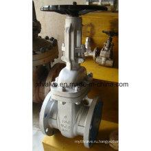 ANSI 150lb Литой углеродистый стальной Wcb Фланцевый запорный клапан