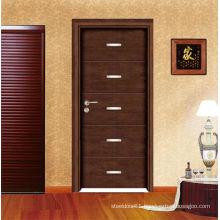 Elegant look painted wooden door with natural veneer