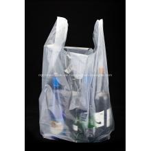 HDPE transparente Kunststoff-Shopping-T-Shirt-Tasche