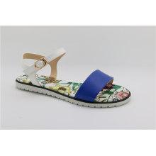 Sandálias confortáveis para senhoras em azul marinho