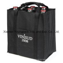 Custom Imprinted Eco-Friendly Reusable Non-Woven Cloth Wine Bottle Bag