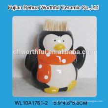 Popular pingüim forma cerâmica toothpick titular