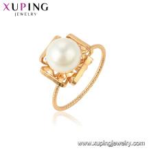 15437 xuping оптом в Китае завод мода последний имитация жемчужное кольцо дизайн для женщин
