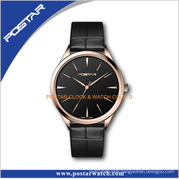 Swiss Movt High Quality Leather Band Automatic Men Wrist Watches