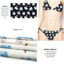 Alta elasticidad Digital impreso traje de baño de punto Jersey Vestido de tela